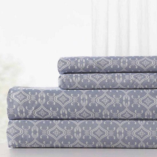 Pacific Coast Textiles Interlock Geo Microfiber Wrinkle Resistant Sheet Set