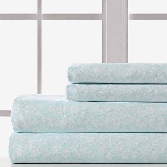 Pacific Coast Textiles Button Fern Microfiberr Wrinkle Resistant Sheet Set