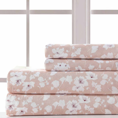 Pacific Coast Textiles Wax Flower Microfiber Microfiber Wrinkle Resistant Sheet Set