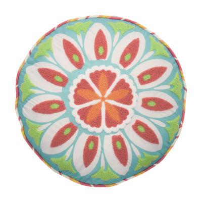 Waverly Wild Card 16X16 Round Throw Pillow