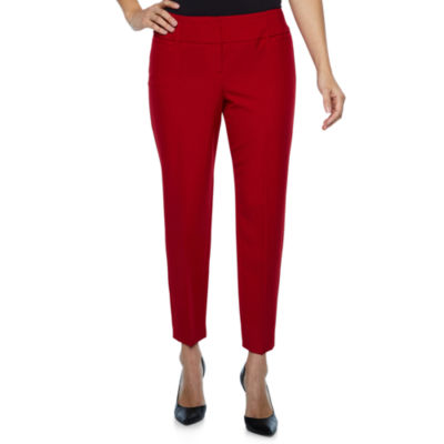 Worthington Curvy Fit Ankle Pants-Petites