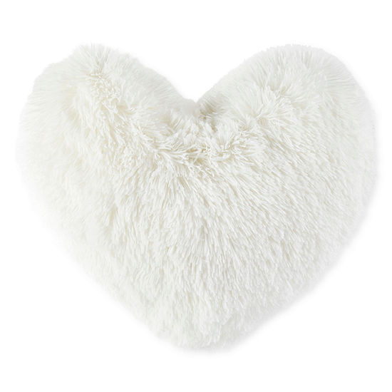 JCPenney Home™ Soft Faux Fur Heart Shaped Pillow