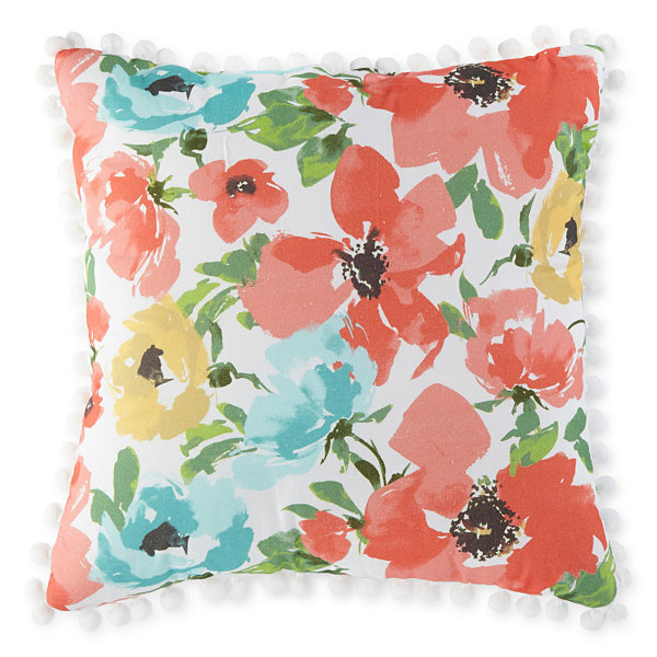 JCPenney Home Spring Floral Square Throw Pillow