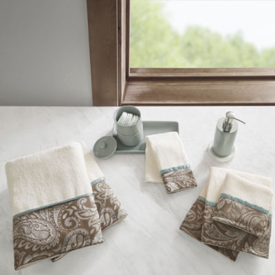 Madison Park Whitman Cotton Jacquard 6-Pc. Bath Towel Set