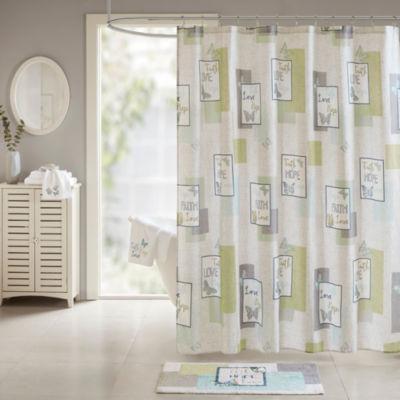 Madison Park Inspiration Cotton Sateen Printed Shower Curtain