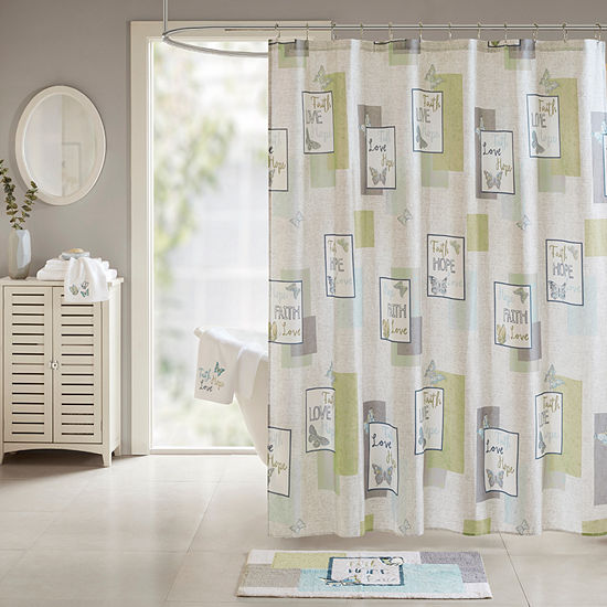 Madison Park Inspiration Cotton Sateen Printed Shower Curtain