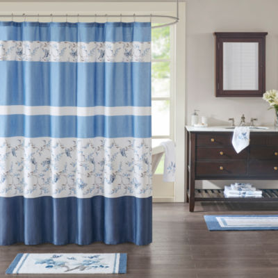 Madison Park Callia Cotton Printed Shower Curtain