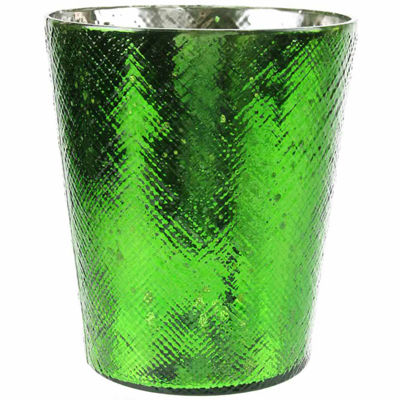 "5.5"" Decorative Mercury Glass Votive Candle Holder"""