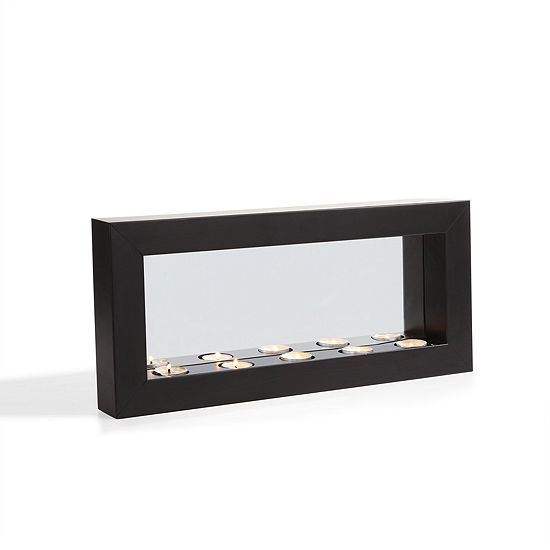 Danya B. Horizontal Mirror Tealight Candle Sconcewith Metal Frame