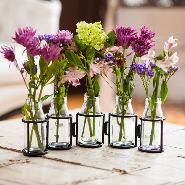 "Danya B. 6"" Hinged 5 Bottle Vase"""