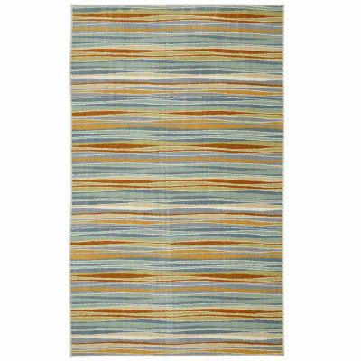 Mohawk Home Aurora Confetti Stripes Rectangular Rugs