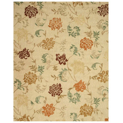 Eastern Rugs Hand-tufted Transitional Floral Looped Pile Carolina Rug