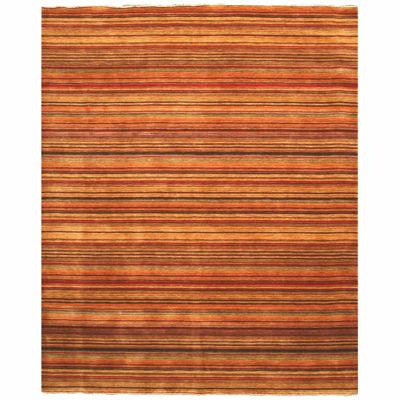 Eastern Rugs Handmade Transitional Stripe Lori Toni Rug