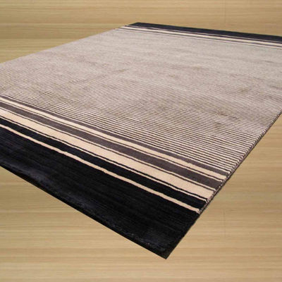 Eastern Rugs Handmade Transitional Stripe Athens Rug