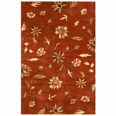 Eastern Rugs Hand-tufted Transitional Floral Modern Rug