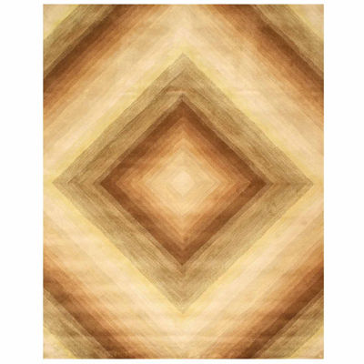 Eastern Rugs Hand-tufted Contemporary Abstract Desert Star Rug
