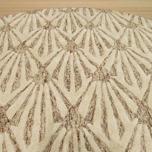 Eastern Rugs Hand-tufted Transitional Trellis Montego Round Rug