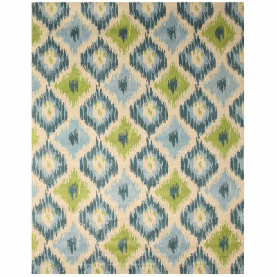 Eastern Rugs Hand-tufted Contemporary Abstract Seagrass Ikat Rug