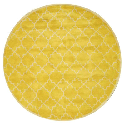 Eastern Rugs Hand-tufted Transitional Moroccan Round Rug