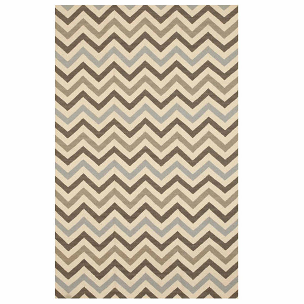 Eastern Rugs Handmade Contemporary Geometric Flatweave Reversible Chevron Rug