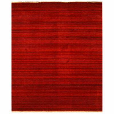 Eastern Rugs Handmade Transitional Stripe Rug