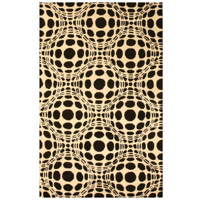 Eastern Rugs Hand-tufted Contemporary Abstract Opto Curves Rug