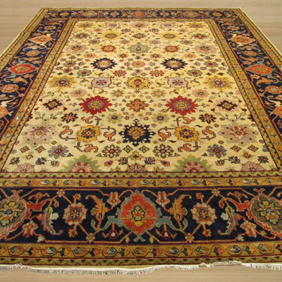 Eastern Rugs Hand-knotted Traditional Oriental Super Mahal Rug