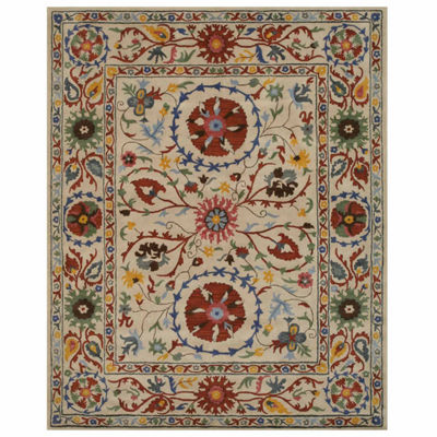 Eastern Rugs Hand-tufted Transitional Floral Suzani Rug