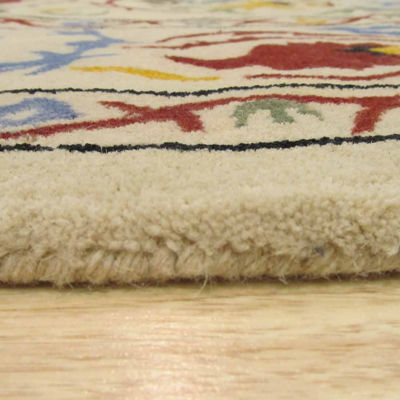 Eastern Rugs Hand-tufted Transitional Floral Suzani Round Rug