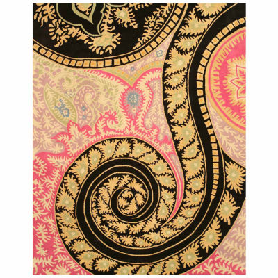 Eastern Rugs Hand-tufted Contemporary Abstract Paisley Rug