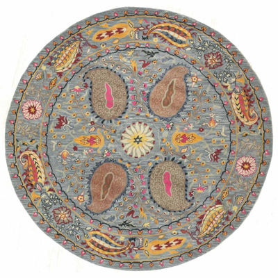 Eastern Rugs Hand-tufted Transitional Floral Paisley Rug