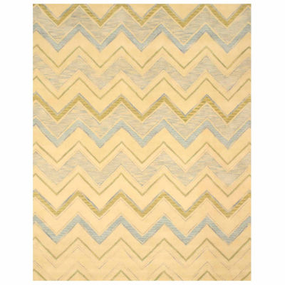 Eastern Rugs Hand-tufted Contemporary Abstract Pastel Chevron Rug