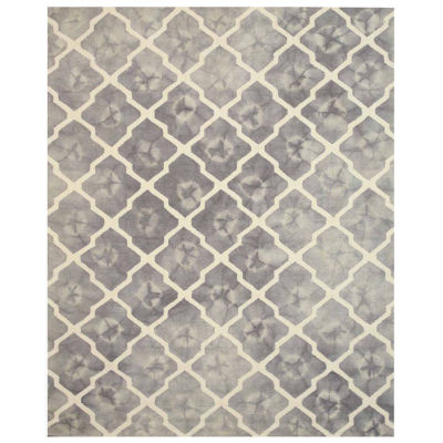 Eastern Rugs Hand-tufted Transitional Geometric Tie-dye Moroccan Rug