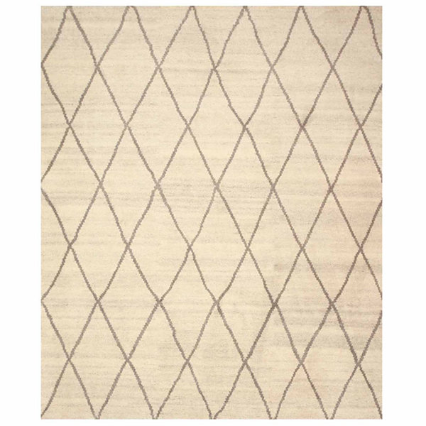 Eastern Rugs Hand-knotted Transitional Trellis Trellis MoroccanRug