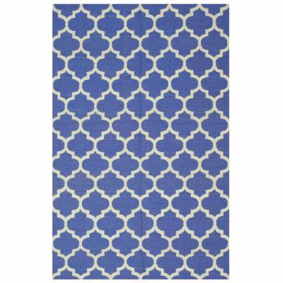 Eastern Rugs Handmade Transitional Geometric Reversible Modern Moroccan Kilim Rug