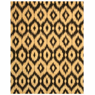 Eastern Rugs Hand-tufted Contemporary Abstract Ikat Rug