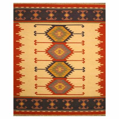 Eastern Rugs Handmade Transitional Geometric Keysari Kilim Rug