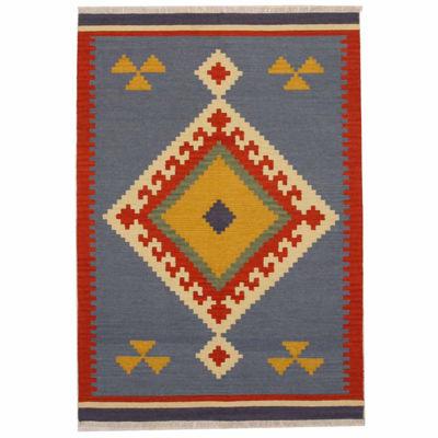 Eastern Rugs Handmade Transitional Tribal KeysariKilim Rug