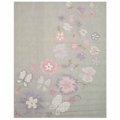 Eastern Rugs Hand-tufted Transitional Animal Kid'sButterfly Rug