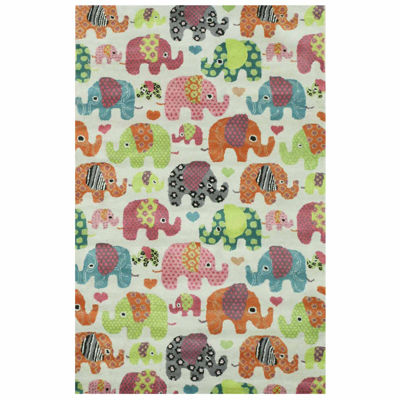 Eastern Rugs Hand-tufted Transitional Kid's Elephant Rug