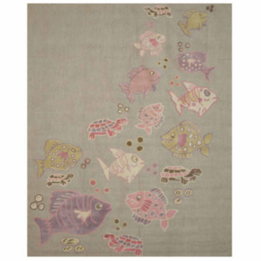 Eastern Rugs Hand-tufted Transitional Animal Kid'sFish and Turtle Rug