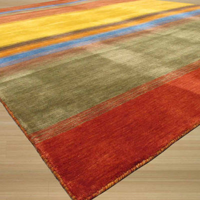Eastern Rugs Handmade Contemporary Stripe Gabbeh Rug