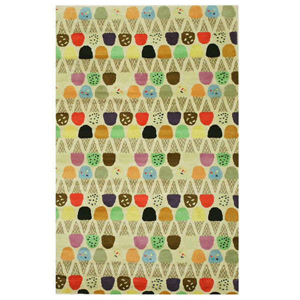 Eastern Rugs Hand-tufted Transitional Kid's Ice Cream Cone Rug