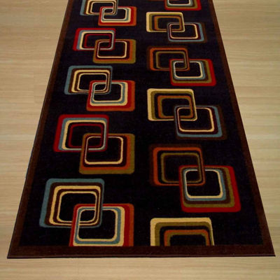 Eastern Rugs Machine-Made Transitional Abstract Retro-Chick Rug
