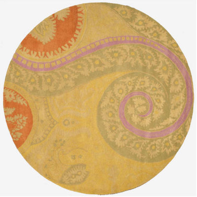 Eastern Rugs Hand-tufted Transitional Floral Tirana Round Rug
