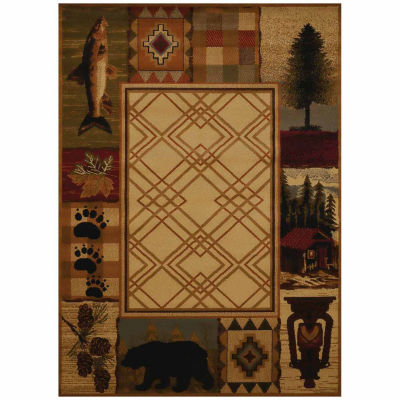 United Weavers Affinity Collection Mountain Lake Rectangular Rug