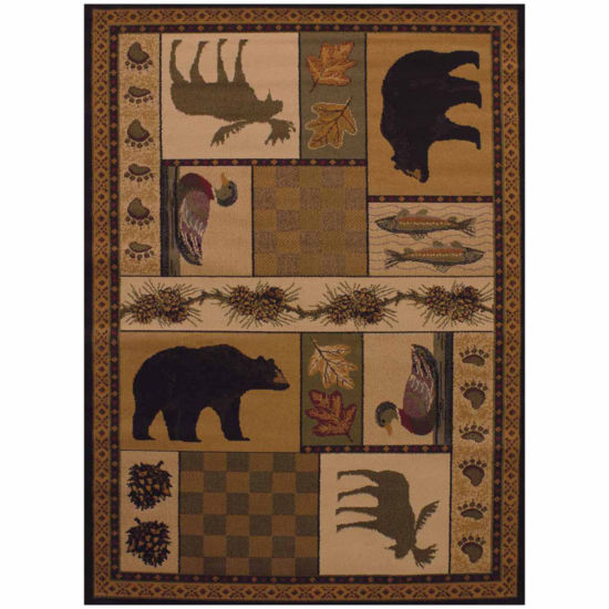 United Weavers Affinity Collection Pine Montage Rectangular Rug