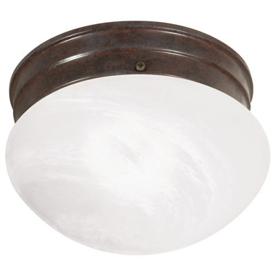Filament Design 1-Light Old Bronze Flush Mount