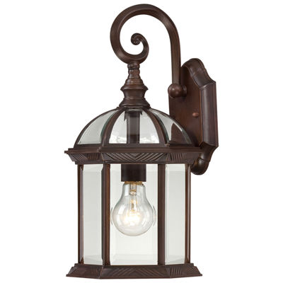 Filament Design 1-Light White Outdoor Wall Sconce