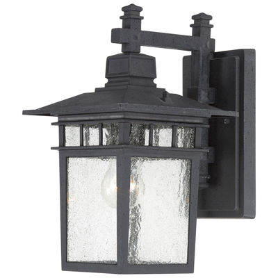 Filament Design 1-Light White Glass Outdoor Wall Sconce